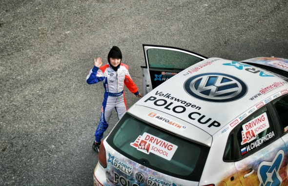 Ира Сидоркова и ее раллийный VW Polo